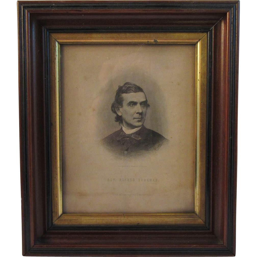 Civil War Era Print Abolitionist in Deep Walnut Frame - Alfred Cookman