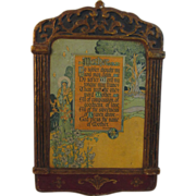 Art Deco Buzza Regal Motto Plaque - Mother Poem by JB Downie