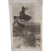 Verdun WWI Battle Monument Black and White Postcard