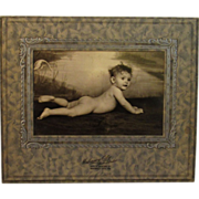 Art Deco Framed Photograph of a Baby in the Buff - Red Tag Sale Item