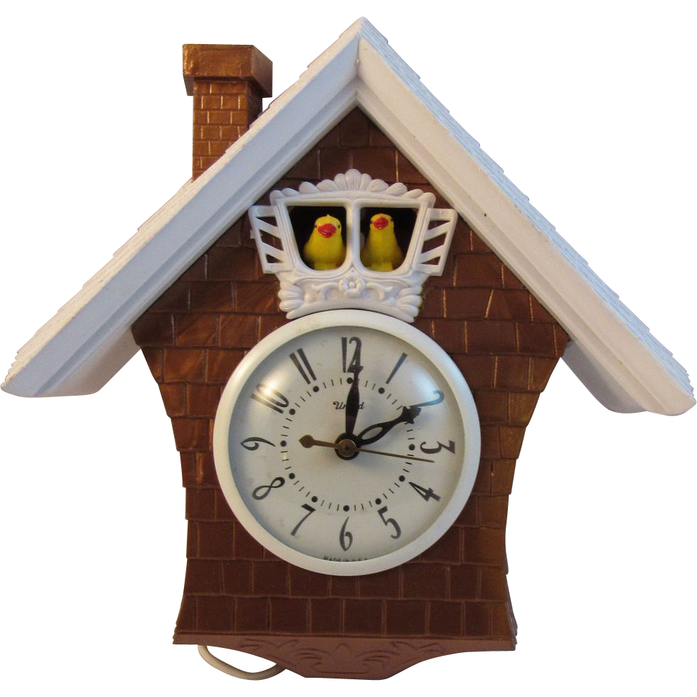 Vintage United Novelty Birdhouse Electric Clock