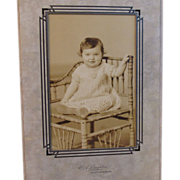 Laughlin Baby in Victorian Chair Photo - Red Tag Sale Item