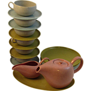 Russell Wright for Ideal Toy Children's Dishes in Melmac American Modern Pattern