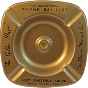Mid Century Salesman Sample Golden Ashtray
