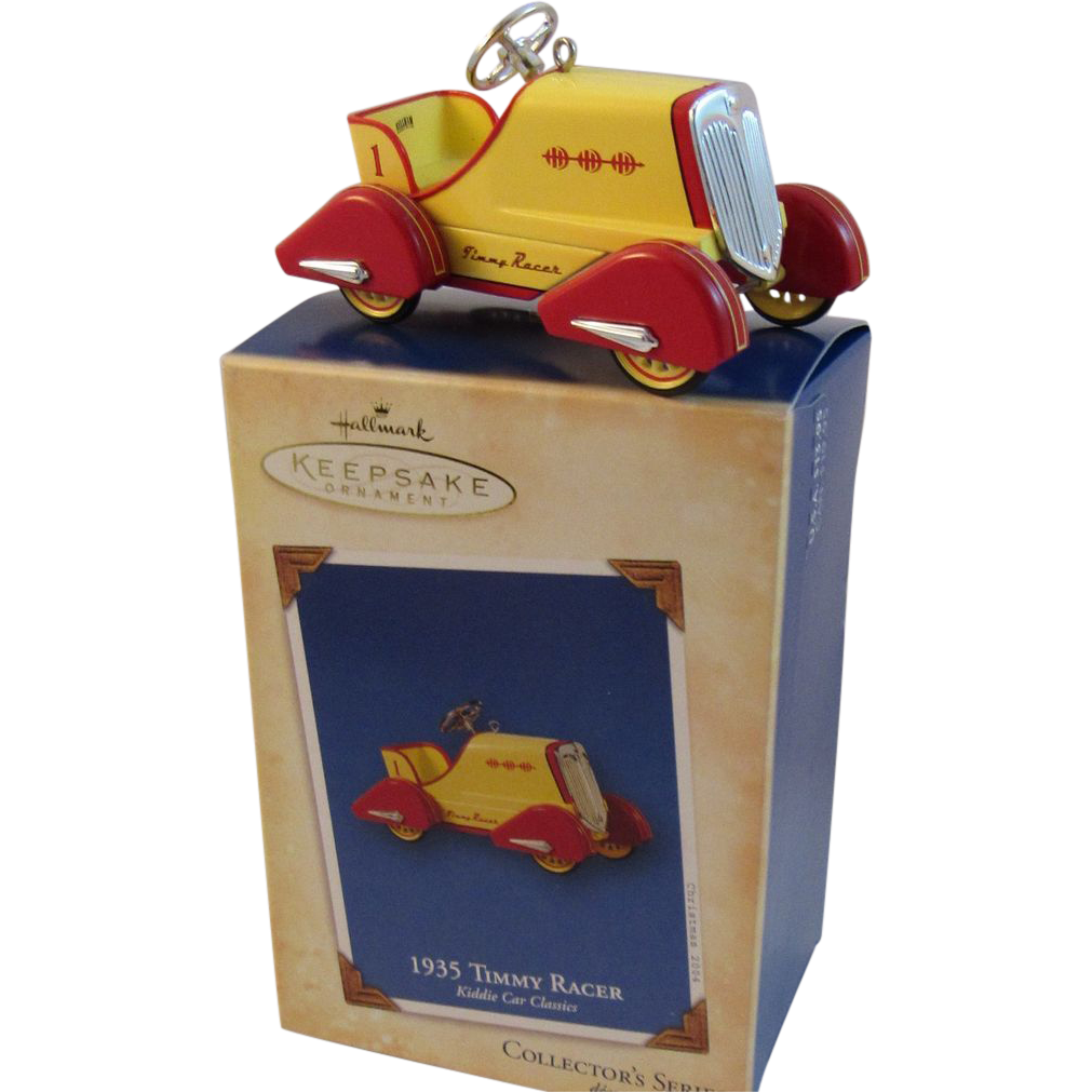 Timmy Racer Hallmark Keepsake Ornament Kiddie Car Classics