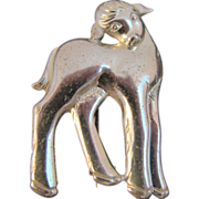 JS Sterling Silver Lamb Pin