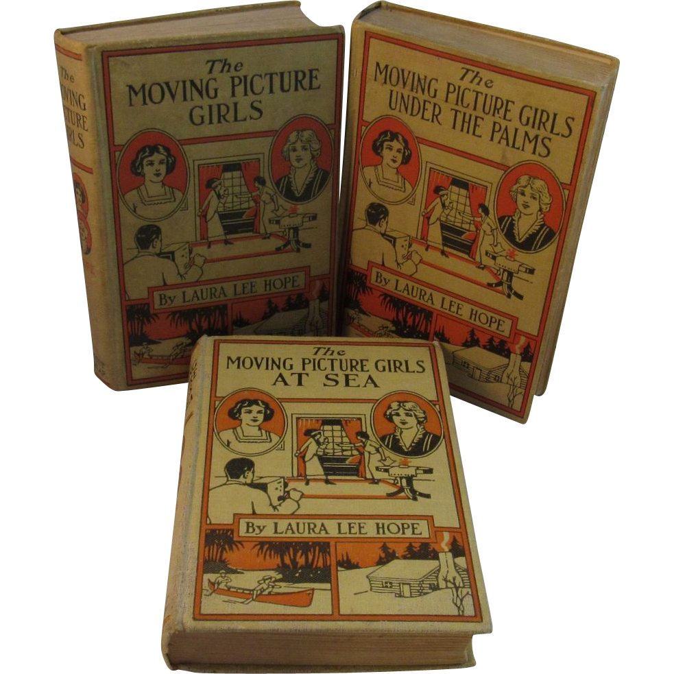 3 Moving Picture Girls Books by Laura Lee Hope