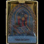 Vintage Jasco Christmas Candle ~ Peace on Earth ~ 1976