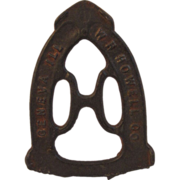 W H Howell Cast Iron Trivet