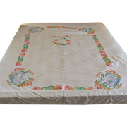 Huge Vintage Hawaiian Tablecloth - Red Tag Sale Item