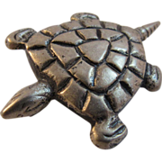 Silver Sea Turtle Pin