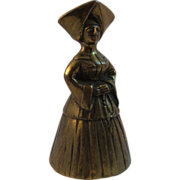 Vintage Figural Brass Nun Bell