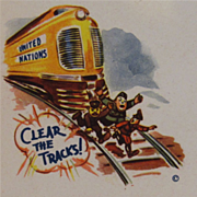 Patriotic WWII 'Clear The Tracks' Envelope