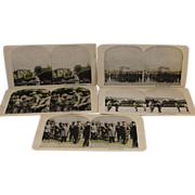 5 WWI World War 1 Stereoview Cards