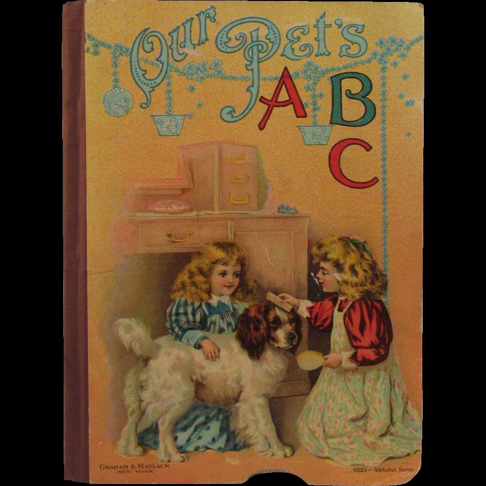 Our Pet's ABC ~ Victorian Children's Book