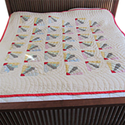 Vintage Grandmother's Fan Quilt