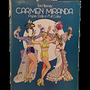 Tom Tierney Paper Dolls Uncut, Carmen Miranda Doll 1982