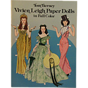 Tom Tierney Paper Dolls Uncut, Vivien Leigh Paper Dolls in Full Color, 1981 - Red Tag Sale Item