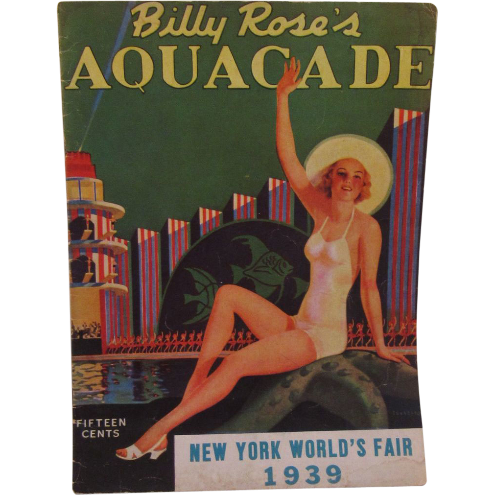 Billy Rose's Aquacade - New York World's Fair 1939 Program Book