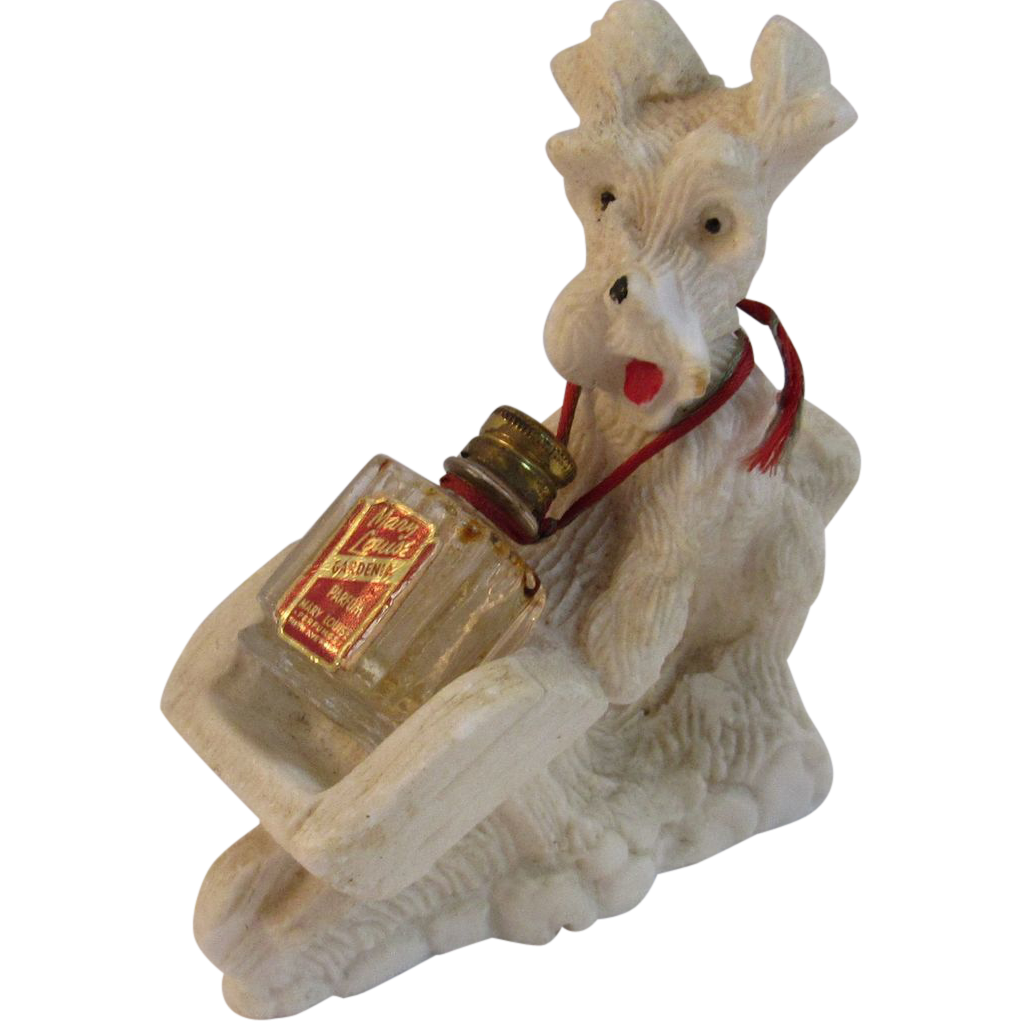 Vintage 1940's Terrier Perfume Holder