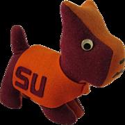 Vintage College Mascot Stuffed Terrier Dog - SU