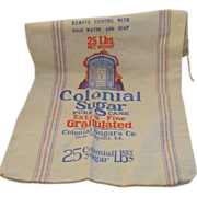 Vintage Colonial Sugar New Orleans Cotton 25 Pound Bag Vintage Kitchen