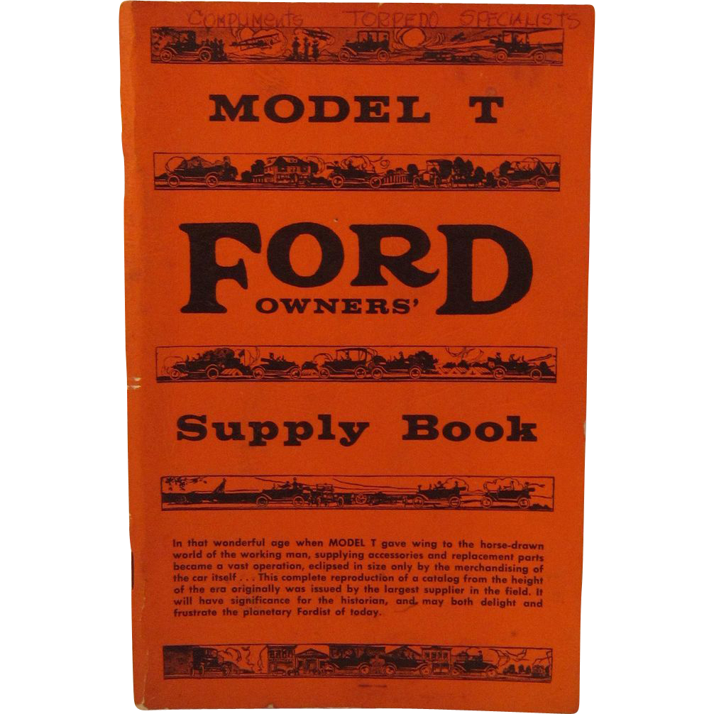 Model T Ford Owners' Supply Book