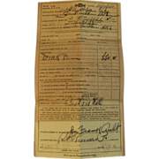 Sale Invoice for a 1941 Chevrolet
