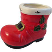 Lefton China Santa Boot for Christmas