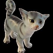 Vintage Lefton China Tabby Cat Figurine