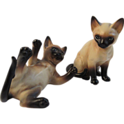 2 Lefton Siamese Cat Figurines