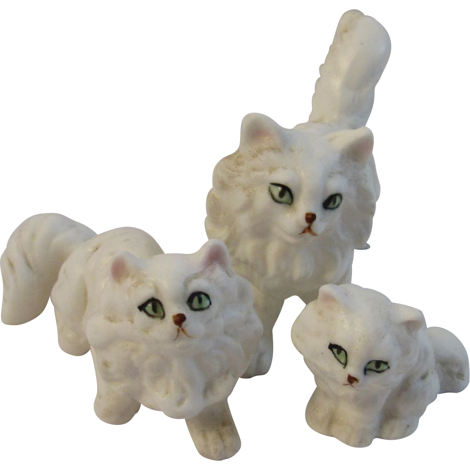 Miniature Persian Cat Family of Three SOLD on Ruby Lane