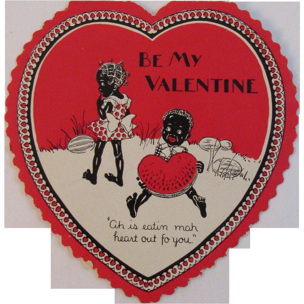Black Americana Heart Valentine