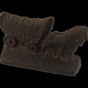 Hubley Conestoga Wagon Cast Iron Doorstop