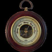 Vintage German Barometer - Atco - Brass & Mahogany