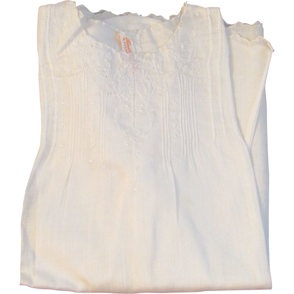 Vintage Hand Made Baby Dress and Slip Perfect for a Doll