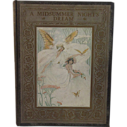 1907 A Midsummer Night's Dream Victorian Children's Book - Illustrated by Lucy Fitch Perkins - Red Tag Sale Item