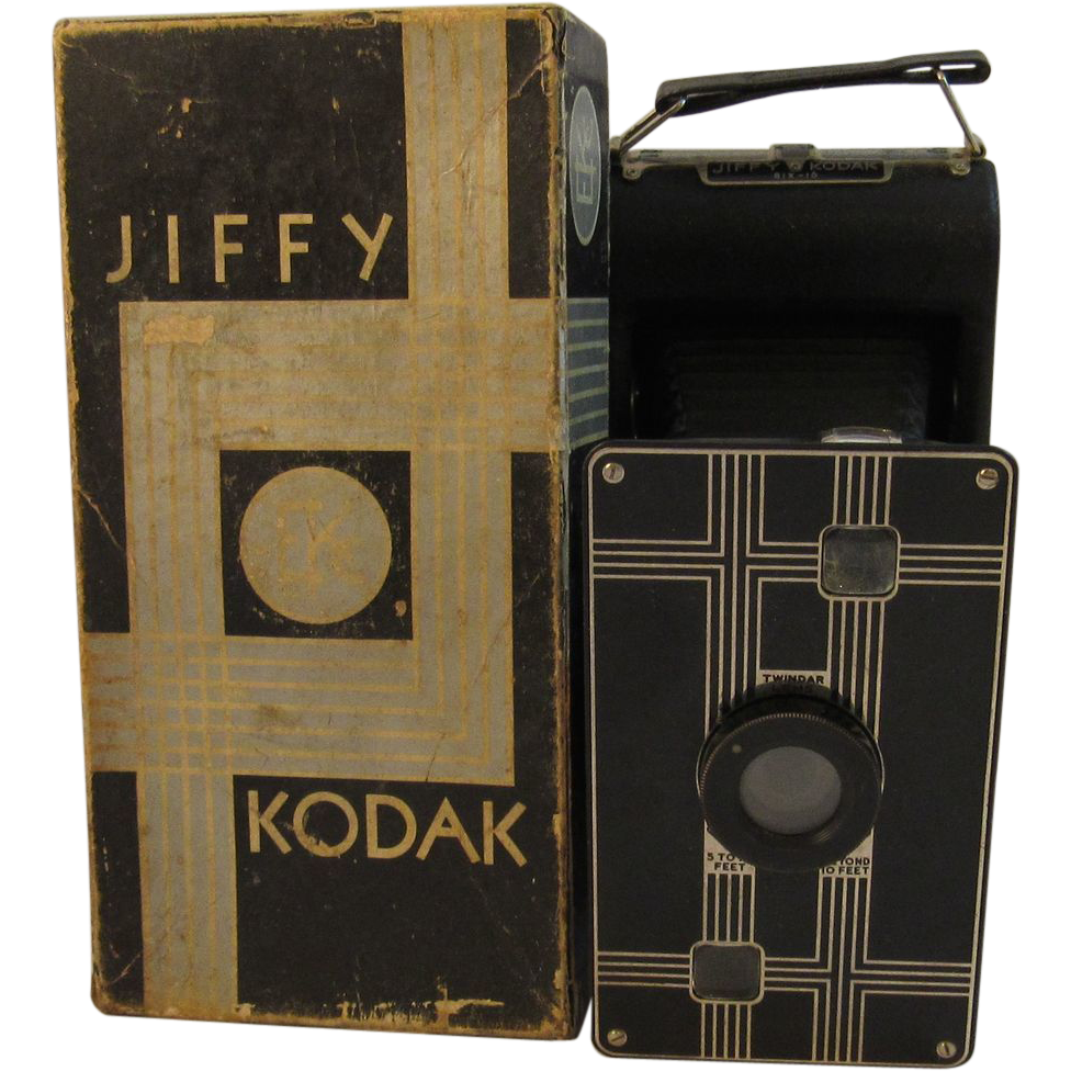 Jiffy Kodak Six-16 Camera in Original Box