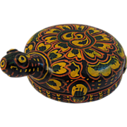 Vintage Russian Lacquer Turtle Box - Red Tag Sale Item