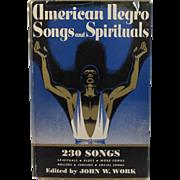 1940 American Negro Songs and Spirituals Book