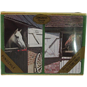 Vintage Congress Double Deck of Pinochle Cards with Horses - Unopened