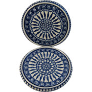 Pair of Polish Pottery Trivets