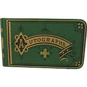 Victorian Leather Autograph Album circa 1878