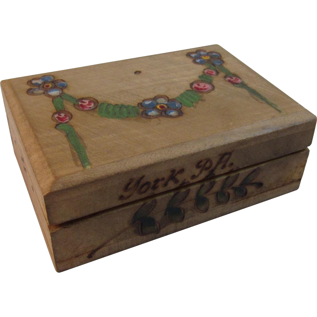 Miniature German Pyrography Box