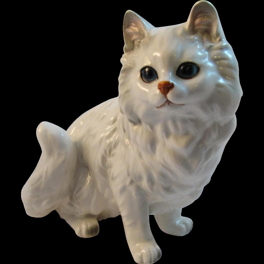 Vintage Napco Napcoware Large White Siamese Cat
