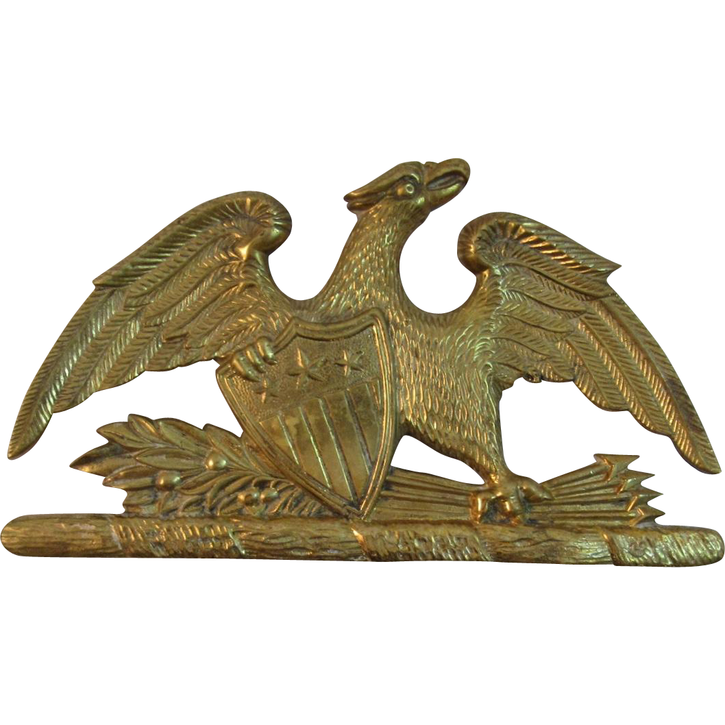 Virginia Metalcrafters Brass Spread Eagle Trivet