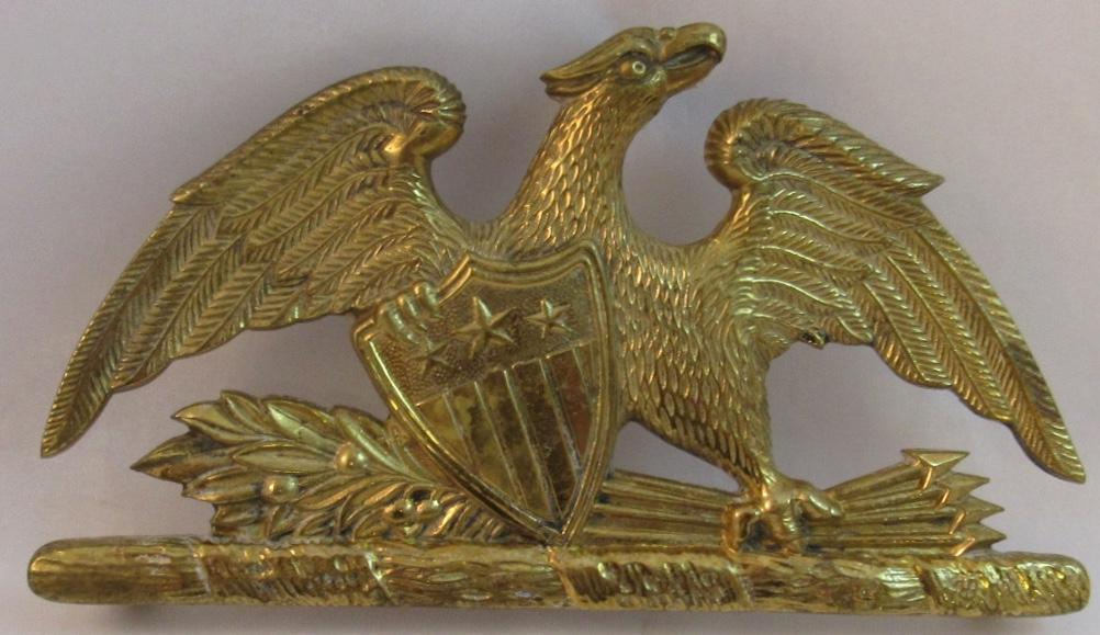 virginia metalcrafters brass spread eagle trivet from
