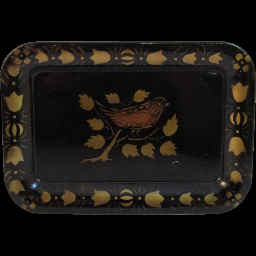Vintage Stenciled Tole Tray