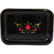 Vintage Hand Painted Tole Tray.