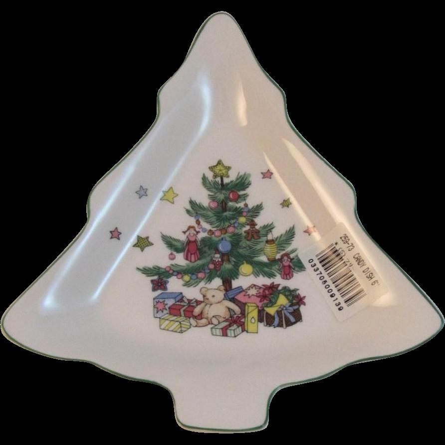 Nikko Christmastime Christmas Tree Candy Dish